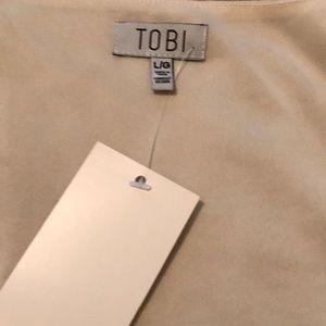 Tobi Dresses - White long sleeved mini dress